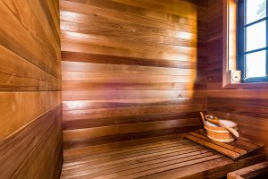 Sauna in 1st level guest room